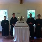 Et voilà l'autel dans le dojo!